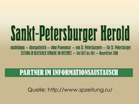 "Medienpartner ""Internetportal St. Petersburger Herold"" - deutschsprachig"