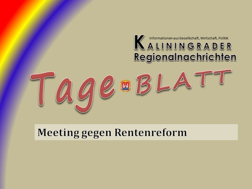 Meeting gegen Rentenreform